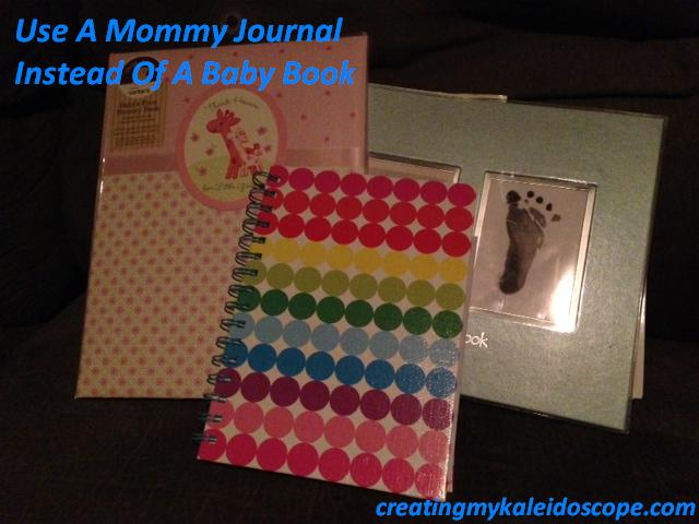The empty baby books and a Mommy Journal filled with precious memories.