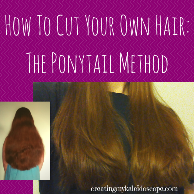 How to cut your own hair the ponytail method creating my kaleidoscope how to cut your own hair the ponytail method solutioingenieria Choice Image