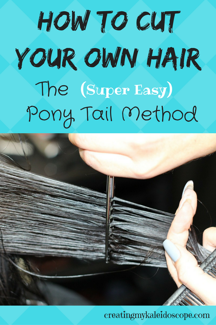 cut your own hair pony tail method