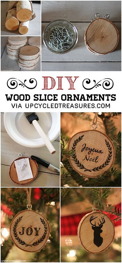 wood slice ornaments