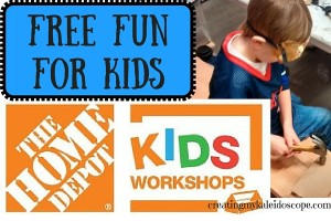 free fun home depot workshops