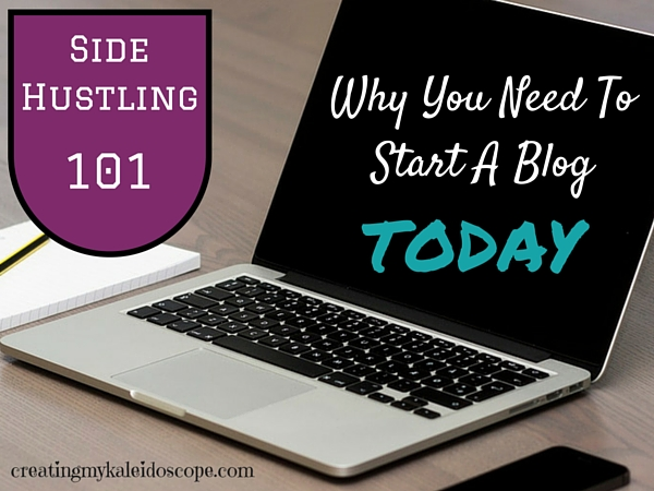 side hustle start a blog