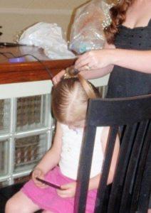 doing hair