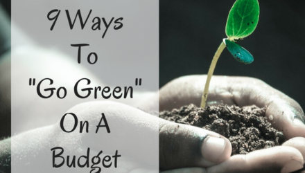 "9 Ways To ""Go Green"" On A Budget"