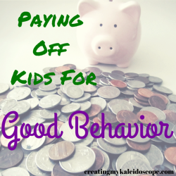 Paying Off Kids For Good Behavior